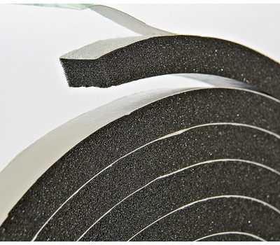 Thermwell R734H Frost King 7/16 Inch By 10 Foot Black Rubber Foam Weather Seal With Self Stick Tape