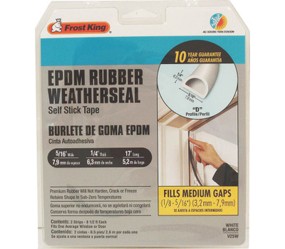 Thermwell V25GA Frost King Rubber Weatherstrip 3/8X1/4X17ft