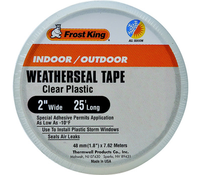 Thermwell T94H Frost King Weather Seal Clear Plastic 2 By 25 Foot