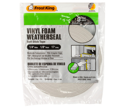 Thermwell V442H Frost King Tape Foam W/S 1/4Inx1/8Inx17ft