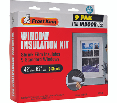 Thermwell V73/9H Frost King 42 Inch By 62 Inch Window Insulation Kit 9 Pack