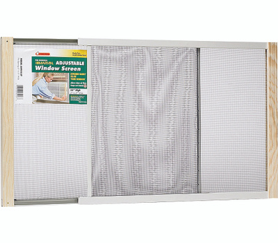 Thermwell AWS1545 Frost King Adjustable Extension Window Screen 15 Inch Tall By 25 Inch To 45 Inch