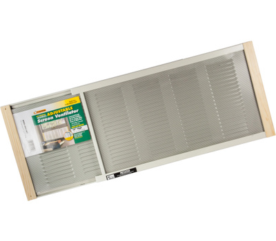 Thermwell AWS1207 Frost King 10 By 22 To 37 Inch Adjustable Extension Ventilator Fan Window Screen