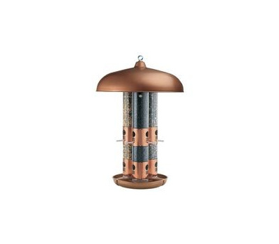 Perky Pet 7103-2 Triple-Tube Bird Feeder, 24.6 in H, 10 Pound, Copper, Hanging/Pole Mounting