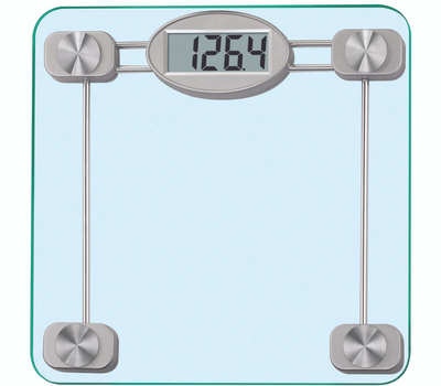 Taylor 75274192 High-Tempered Glass Electronic Scale Clear With Silver