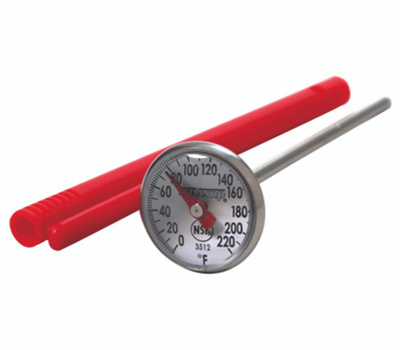 Taylor 3512 Instant Read Thermometer, 0 to 220 Deg F, Analog Display, Gray