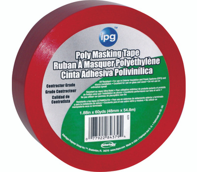 Intertape Polymer 4379 Stucco Red Poly Masking Tape 1.88 Inch By 60 Yards