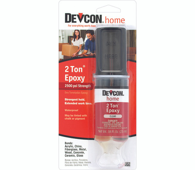 ITW Devcon 31345 2 Ton Medium-Cure High Strength Clear Epoxy Adhesive 0.84 Fluid Ounce Tube