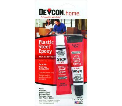 ITW Devcon 52345 Metal Repair Epoxy Steel Filled Waterproof 2 Ounce