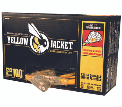 Southwire 2820 Yellow Jacket 12/3 By 100 Foot Power Block