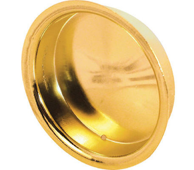Prime Line N6765 163138 Recessed Round Cup Pulls 1-3/4 Inch Bright Brass 2 Pack