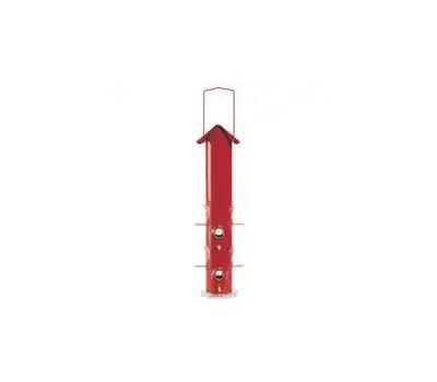 Perky Pet 392 Red Metal Tube Wild Bird Feeder
