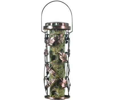 Perky Pet 550 Perky-Pet Wild Bird Feeder, Whimsical Garden, 1 Pound, Plastic, Antique Copper, Hanging Mounting