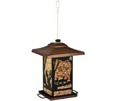 Perky Pet 8504-2 Wild Bird Feeder, Wilderness Lantern, 2 Pound, Mixed, Black Oil Sunflower, Hulled Sunflower and Safflower