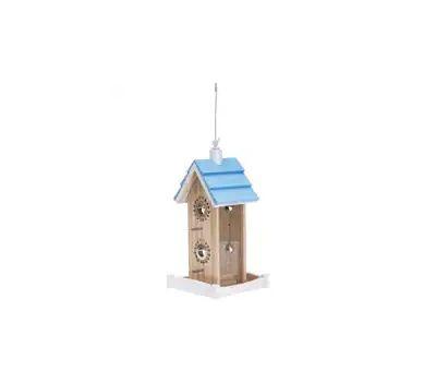 Perky Pet 50182 Wood Bird Feeder, Birdie B & B, 2 Pound, Pine, Hanging Mounting