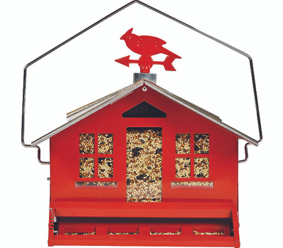 Perky Pet 338 Squirrel Be Gone II Country House Wild Bird Feeder