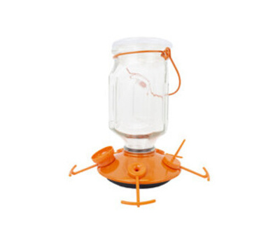 Perky Pet 9113-2 Perky-Pet Top-Fill Bird Feeder, 22 Ounce, Nectar, 5-Port/Perch, Glass/Plastic, 8-1/4 in H
