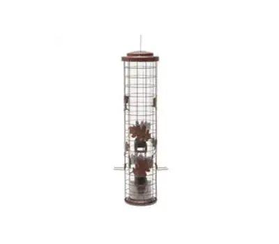 Perky Pet SBG101 Perky-Pet Squirrel-Be-Gone Sbg100 Cylinder Wild Bird Feeder, 26 in H, 1-3/ 4 Pound, Metal, Red, Powder-Coated