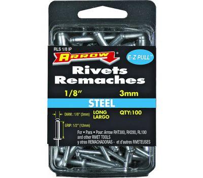 Arrow Fastener RLS1/8IP 1/8 By 1/2 Inch Long Steel Rivet