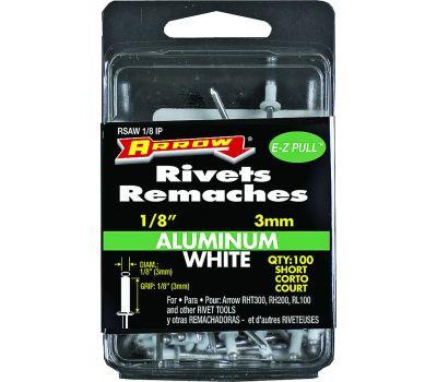 Arrow Fastener RSAW1/8IP 1/8 By 1/8 Inch Short Aluminum Rivet