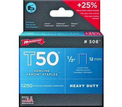 Arrow Fastener 50824 / 508 T50 1/2 Inch T50 Staples