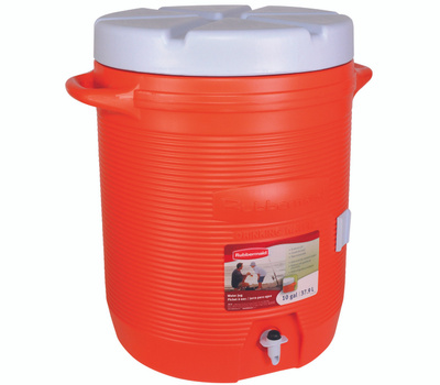 Rubbermaid Home 1610-01 11 10 Gal Orange Commercial Water Cooler