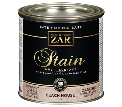 UGL 139 Zar Beach House Interior Wood Stain Oil Based 1/2 Pint