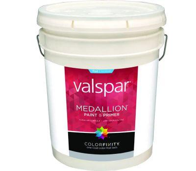 Valspar 45501 Medallion White Exterior Flat Latex Lifetime
