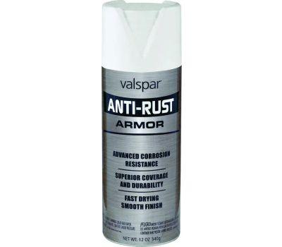 Valspar 21921 Anti Rust White Flat Anti Rust Spray Enamel