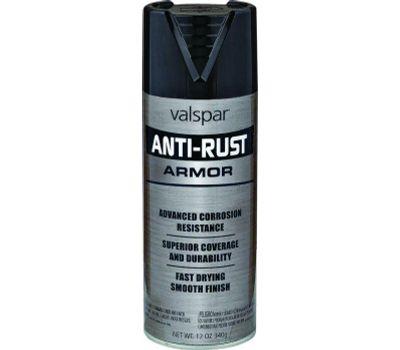 Valspar 21925 Anti Rust Black Satin Anti Rust Spray Enamel