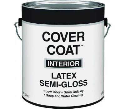 Valspar 455 Cover Coat Contractor Interior Semi-Gloss White Gallon
