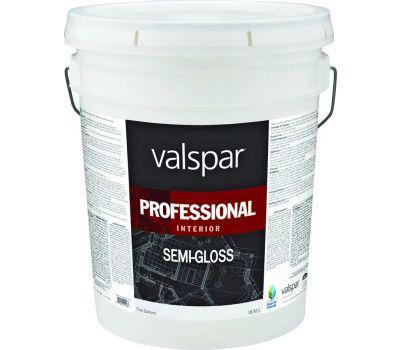 Valspar 11900 Professional Paint Interior Semi Gloss Latex High Hide White 5 Gallon