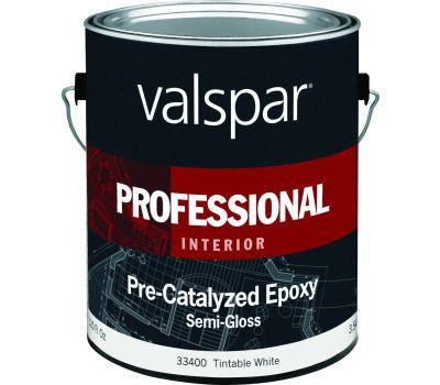 Valspar 33400 Professional Epoxy Semi Gl Pre-Cat Wht Gal