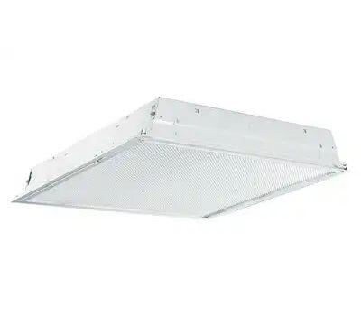 Metalux 22GRLD2435R1 Recessed Troffer, 10 V, 20 W, Led Lamp, 2400 Lumens, 3500 K Color Temp, Steel Fixture