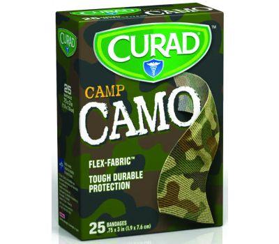 Medline CUR45701RB Curad Camp Flex-Fabric 8545980 Adhesive Bandage, 3/4 in W, 3 in L, Fabric Bandage