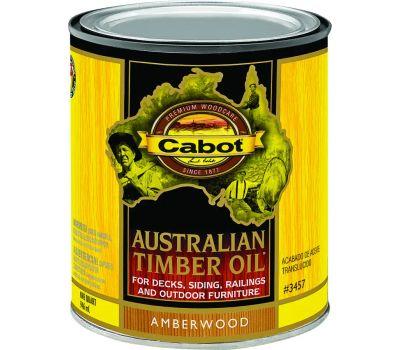 Cabot 3457 Oil Australian Timber Amber Wood Quart