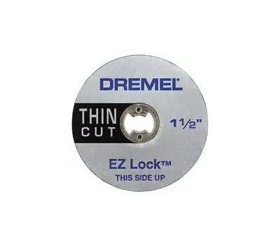Dremel EZ409 Ez Lock Ez Lock Cut-off Wheel, 1-1/2 in Dia, 0.02 in Thick, 1/8 in Arbor