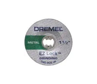 Dremel EZ541GR Ez Lock Grinding Wheel, 1-1/2 in Dia, 0.045 in Thick, Aluminum Oxide Abrasive