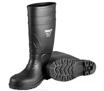 Tingley Rubber 31151.04 Size 4 Black Pvc Sock Boot