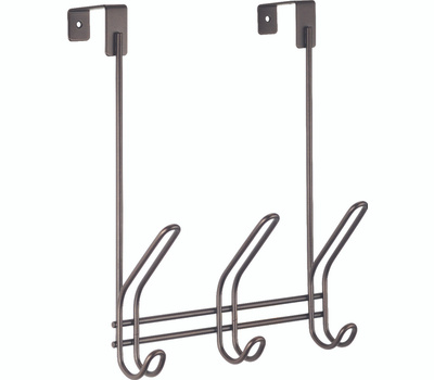 InterDesign 43913 Interdesign 43913 Over The Rod Hook, 10-3/4 In L X 4-1/2 In W, Bronze