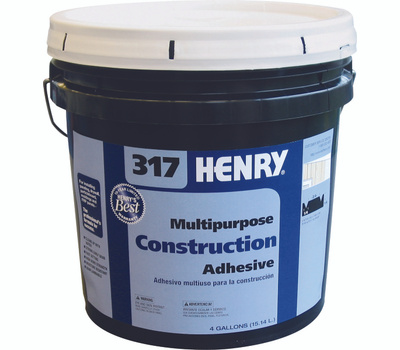 WW Henry 12039 Construction Adhesive 4 Gallon Container Number 317