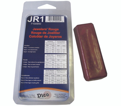 Dico 7100940 Buffing Compound, 1/2 in Thick, Jewelers Rouge, Red