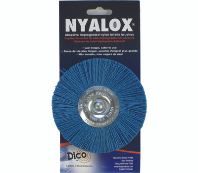 Dico 541-784-4 4 Inch Blue Fine Mounted Abrasive Wheel