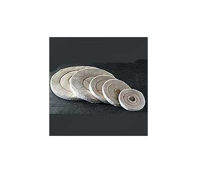 Dico 527-60-6 Buffing Wheel, 6 in Dia, 1/2 in Thick, Flannel Cotton