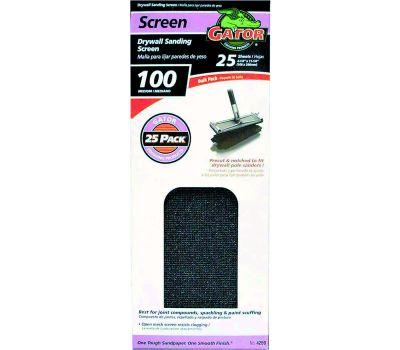 Ali 4259 Gator 4-1/4 By 11 1/4 Inch Drywall Sanding Screen 100 Grit Medium Silicon Carbide