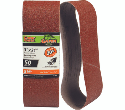 Ali 7012 Gator 3 By 21 Inch Aluminum Oxide Sanding Belt 50 Grit Coarse 5 Pack