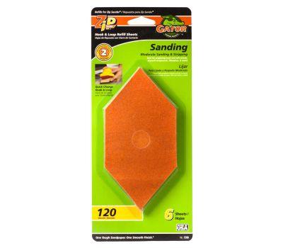 Ali 7206 Gator Zip Sander Refill Sanding Sheets Hook And Loop 120 Grit Aluminum Oxide 6 Sheets