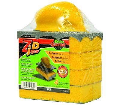 Ali 7232 Gator Zip Step 123 Sanding Sponge Holder Kit With 1 Holder And 4 Assorted Grit Sponges
