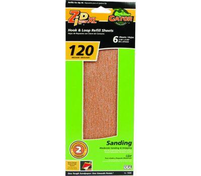 Ali 7245 Gator Zipxl Step 2 Refill Sanding Sheet 120 Grit Aluminum Oxide 6 Sheets