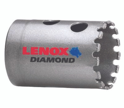 Lenox 1211722DGHS Diamond Holesaw 1-3/8 Inch Diameter Diamond Grit